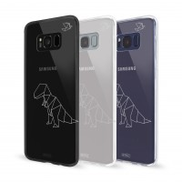 Artwizz NoCase Design Schutzhülle für Galaxy S8 - Ultra-dünne Hülle aus elastischem TPU - limitierte Designedition mit stylischen Polygon-Motiv - Galaxy S8 Case designed in Berlin - T-Rex - 5949-2157 – Bild 3