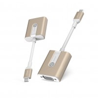 Adam Elements CASA V01 - USB-C to VGA Adapter - 12,7 cm, Gold