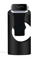Just Mobile TimeStand Lade Docking Station Apple Watch schwarz Aluminium – Bild 2